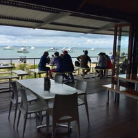 Photo taken at Aristos Waterfront Rottnest Fish Cafe by Ben G. on 10/4/2016