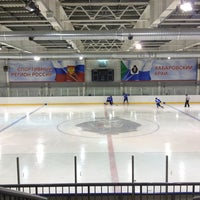 Photo taken at Хоккейный центр Амур by Роман Б. on 2/7/2013