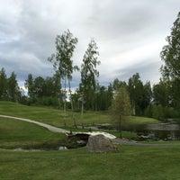 Photo taken at Atlungstad Golfklubb by Kjetil S. on 5/26/2016