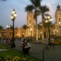 Photo taken at Plaza Mayor de Lima by Andrea R. on 3/4/2013
