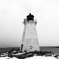 Photo taken at Seaside Park Lighthouse by Gabriel L. on 2/14/2015