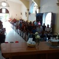 Photo taken at Parroquia de San Juan Bautista Zacazonapan by Isahai V. on 4/19/2014