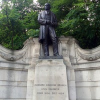 Photo taken at Isambard Kingdom Brunel statue by Steven D. on 8/1/2013