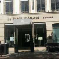 Photo taken at Le Place D'Armes Café by Via K. on 8/14/2013