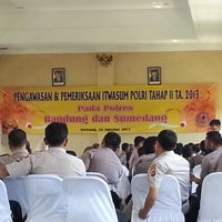 Photo taken at Gedung Sabilulungan Polres Bandung by Dolly . on 8/24/2013