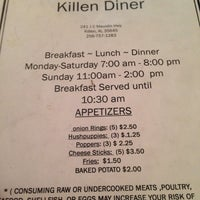 Photo taken at The Killen Diner by Justin on 11/30/2013
