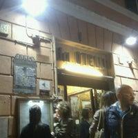 Photo taken at Da Otello in Trastevere by Stefano R. on 6/1/2014