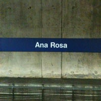 Photo taken at Ana Rosa Station (Metrô) by Dante V. on 2/28/2013