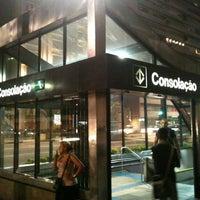 Photo taken at Consolação Station (Metrô) by Dante V. on 3/3/2013