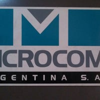 Photo taken at Microcom Arg.- Suc. Buenos Aires by Enrique E. on 12/5/2013