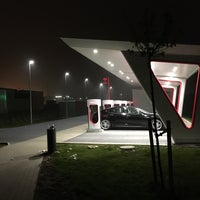 Photo taken at Tesla SuperCharger by Simon S. on 10/5/2015