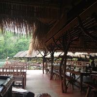 Photo taken at River Kwai Jungle Raft Floating Hotel Kanchanaburi by pan..chiw on 4/25/2013