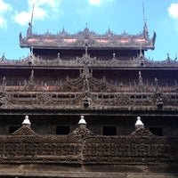 Photo taken at Golden Palace (Shwenandaw Kyaung) Monestary by pan..chiw on 9/19/2013