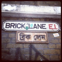 Photo taken at Brick Lane by Karen B. on 5/4/2013