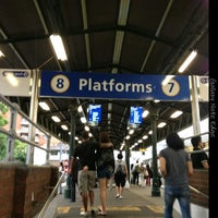 Photo taken at Strathfield Station (Platforms 7 & 8) by Oğuzhan T. on 12/27/2014