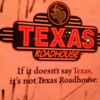 Photo taken at Texas Roadhouse by Eat With Dan on 10/28/2012