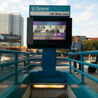 Photo taken at CTA - Grand (Blue) by Joseph P. on 7/4/2013