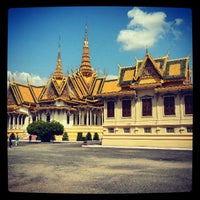 Photo taken at Royal Palace, Phnom Penh by Aaron C. on 3/31/2013