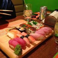 Photo taken at Sushi Yoshi by Nabil D. on 1/14/2013