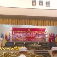 Photo taken at Kompleks Islam Jubli Perak Sultan Ismail Petra by Nur Izatie S. on 10/3/2017