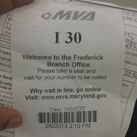 Photo taken at Maryland Motor Vehicle Administration (MVA) by Pereta R. on 2/6/2013