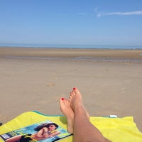 Photo taken at Plage Du Chatelet by Camille D. on 7/4/2014