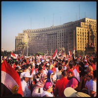 Photo taken at Tahrir Square by Adam M. on 7/2/2013
