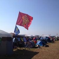 Photo taken at Camping des Eurockéennes by Mr.Blum on 7/7/2013