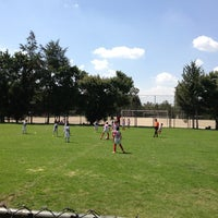 Photo taken at Pumitas C.U., Futbol A.C. by Jacqueline G. on 6/1/2013