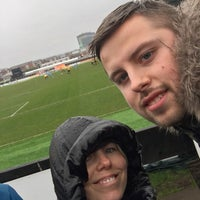 Photo taken at Rodney Parade by Jodie T. on 3/30/2018