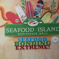 Photo taken at Blackbeard's Seafood Island by Yorica M. on 7/23/2013