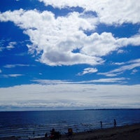 Photo taken at Silver Sands Beach by Jacqueline H. on 8/23/2014