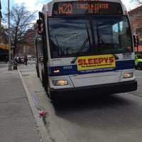 Photo taken at MTA Bus - Harrison St & Hudson St (M20) by Andrea M. on 4/5/2014