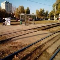 Photo taken at Остановка «ул. Потапова» by Maxim V. on 10/9/2014