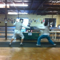 Photo taken at Salle Pouj Fencing / San Antonio Fencing Center and Olympian Fencing Club by Yvette S. on 9/26/2013