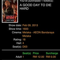 Photo taken at Golden Screen Cinemas (GSC) by Ahm on 2/9/2013