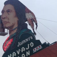 Photo taken at Johnny's Navajo Hogan by Ruben G. on 3/12/2013