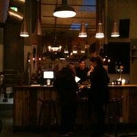 Photo taken at Brunswick House Cafe by irishboyinlondon on 3/15/2013