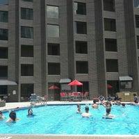 Photo taken at Hyatt Regency Houston Rooftop Pool by Pınarsu Y. on 7/8/2016