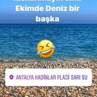 Photo taken at Sarısu Kadınlar Plajı by Muzve_design on 10/22/2017