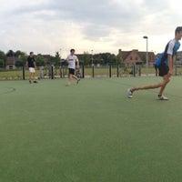 Photo taken at Straatvoetbal-/basketbalveld Goudberg by Cédric V. on 6/8/2014