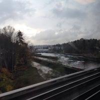 Photo taken at Salmon Bay Bridge by Chad S. on 11/14/2013