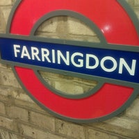 Photo taken at Farringdon London Underground Station by Rich M. on 1/30/2013