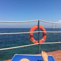 Photo taken at Beach Parco Dei Principi by Bilge A. on 7/13/2017