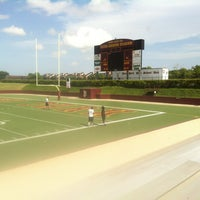 Photo taken at Clyde Abshier Stadium-DPISD by Genoveva H. on 6/13/2013