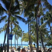 Photo taken at Waikīkī Beach by Moeko Y. on 2/16/2013