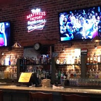 Photo taken at The Old Mattress Factory Bar and Grill by Lauren F. on 10/28/2012