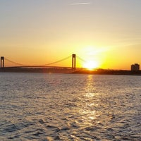 Photo taken at Ceasers Bay Park view to Verrazano-Narrows Bridge by Lana M. on 6/2/2014