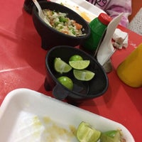 Photo taken at Super Tacos Pirata Saul by Julieta O. on 1/4/2018