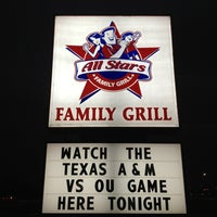 Photo taken at All Stars Family Grill by Billy D. on 1/5/2013